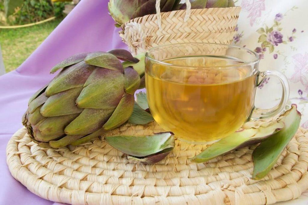 infusion o agua de alcachofa