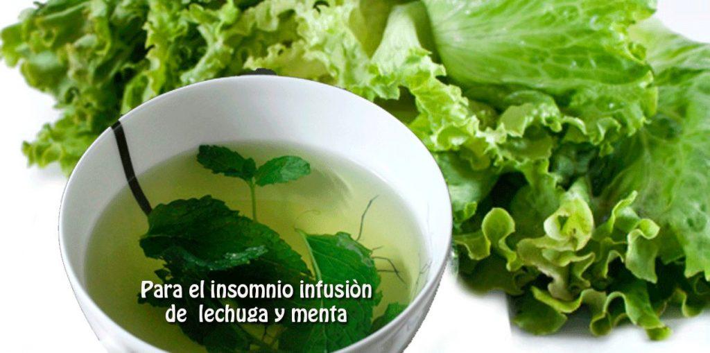 infusión de lechuga para el insomnio