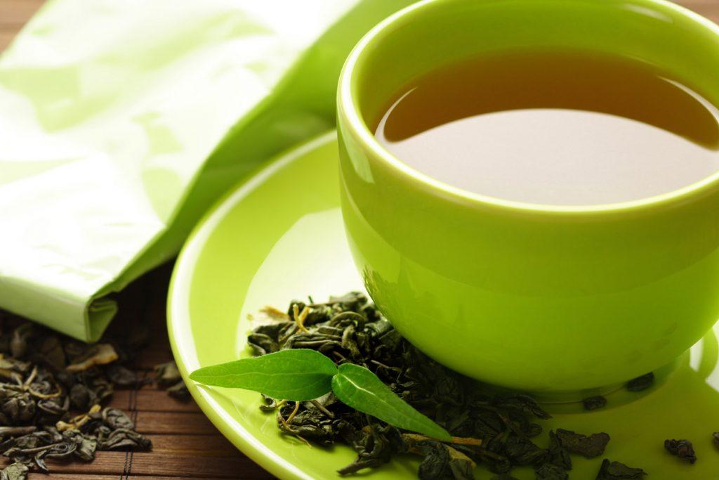 infusion de te verde y jengibre