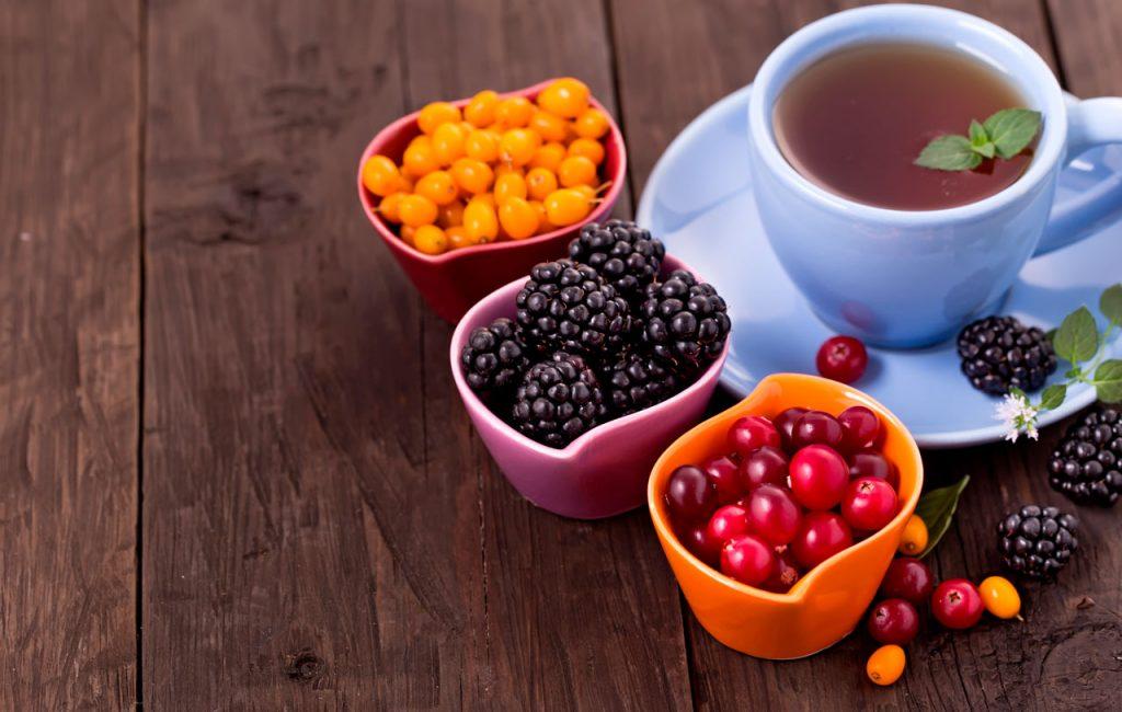 receta infusion de arandanos